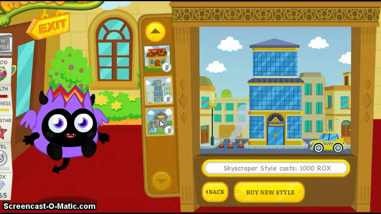 Moshi Monsters Starbii Purchasing A New Style For Her House Youtube
