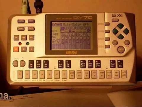 Yamaha QY70 Sound check