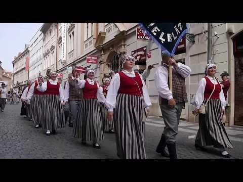 Prague Folklore Days 2017 Festival / průvod v centru Prahy.