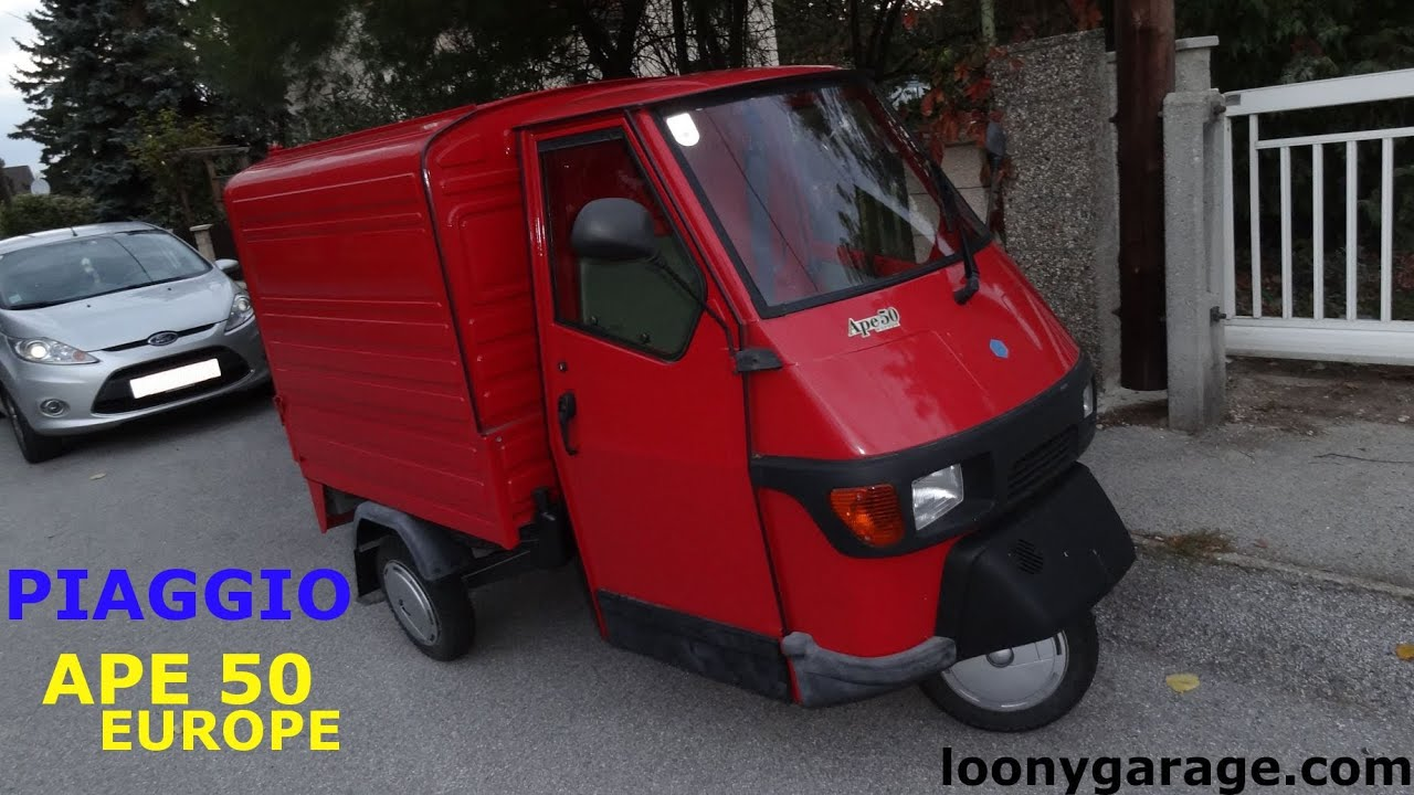 piaggio ape 50 youtube. Black Bedroom Furniture Sets. Home Design Ideas