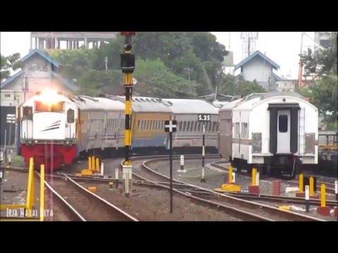 Gambang Semarang Mengiringi Kedatangan Kereta Api di Stasiun Tegal (Ketaranjang,Baja Coil,Kamandaka)
