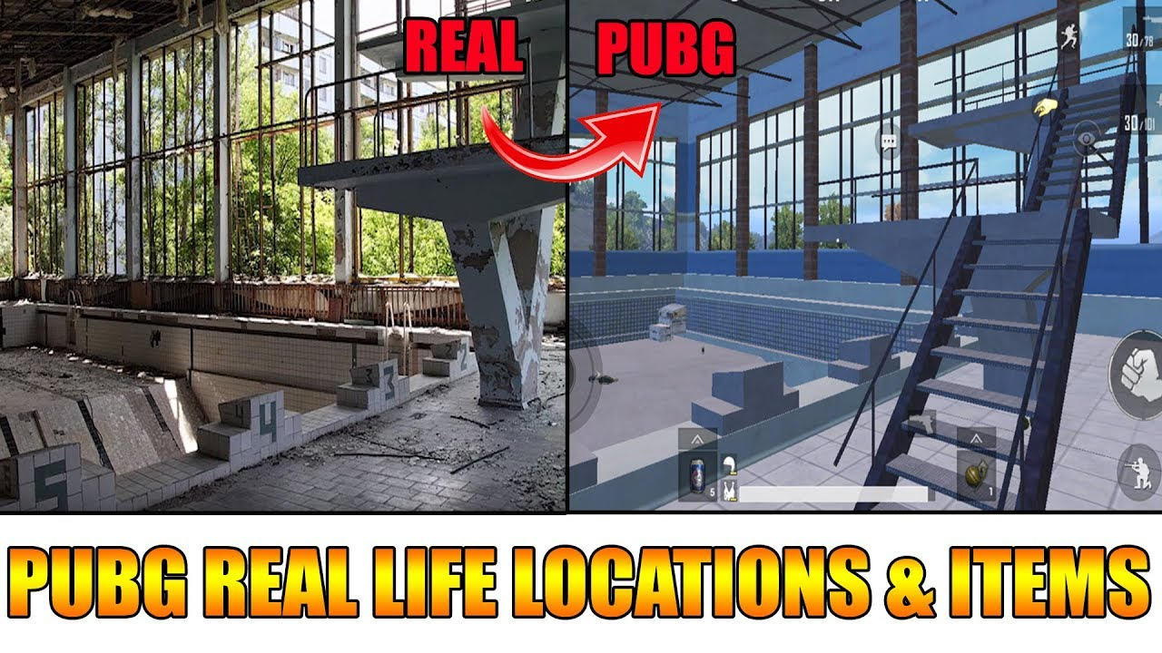 Pubg Real Life Locations Items Youtube