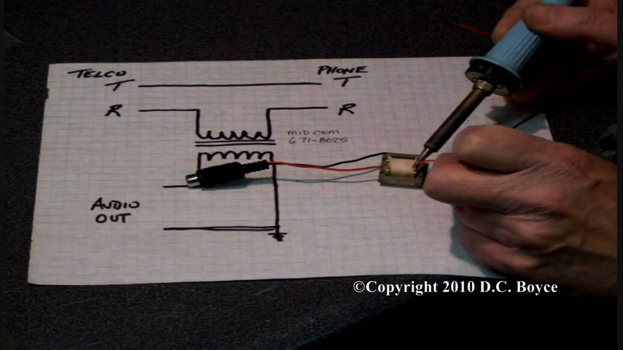 Telephone Line Audio Tap Youtube Schematic