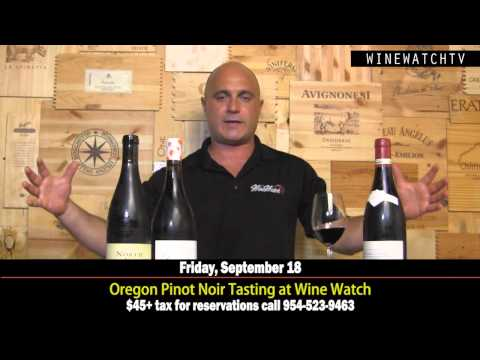 Oregon Pinot Noir Tasting at Wine Watch - click image for video