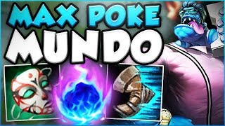 WAIT... ONE MUNDO CLEAVER DOES HOW MUCH DAMAGE?? MAX POKE MUNDO SEASON 8 GAMEPLAY! League of Legends