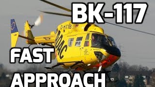 BK-117 Helicopter: Fast Approach Landing & Backward Take-off!!!