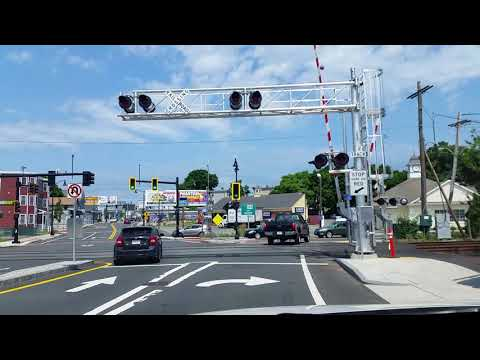 ( other driver) Crossing the RR tracks and takking a right on colon st from cabot St.
