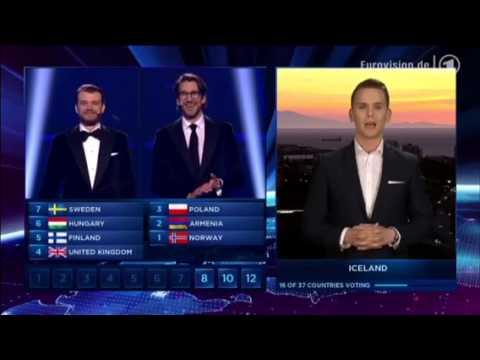 Eurovision Song Contest 2014 - Full Voting results and winner performance - Denmark Copenhagen