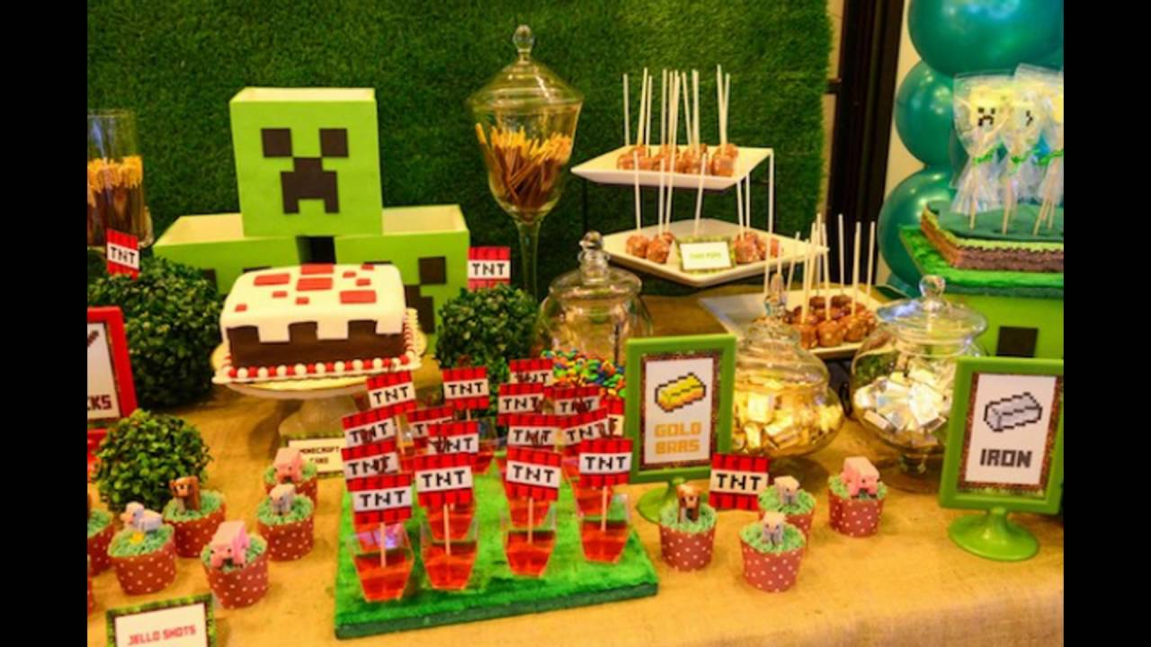 Ideas y detalles para una fiesta minecraft youtube - Ideas para decorar fiestas ...