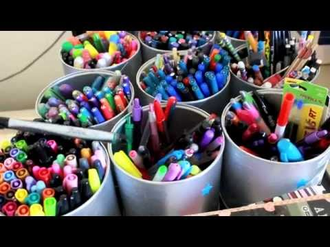 Office Supply Organization   {Bonus} Sneak peek at my pen collection