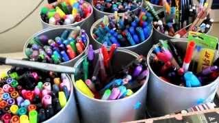 Office Supply Organization | {Bonus} Sneak peek at my pen collection