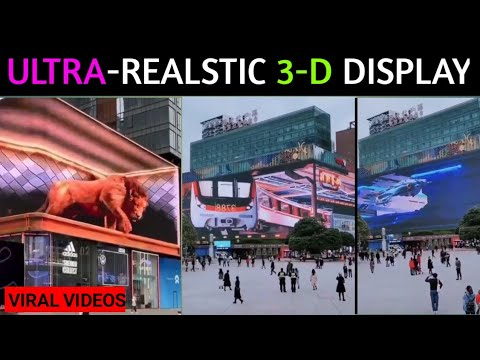 ULTRA REALISTIC 3-D SCREEN IN CHENGDU CHINA || VIRAL VIDEOS