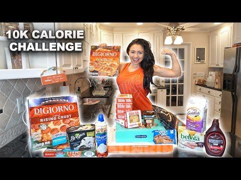 10k Calorie Challenge | Girl VS Food | Epic Cheat Day | Ashley Nocera Rematch