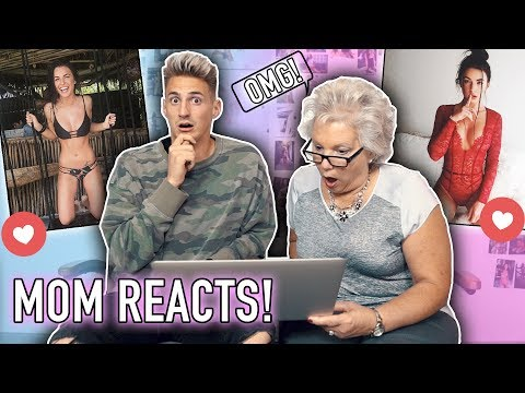 My MOM REACTS to my GIRLFRIENDS INSTAGRAM PHOTOS! (Funny)