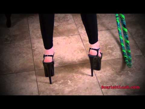 Extreme 8 inch High Heels while Hula...