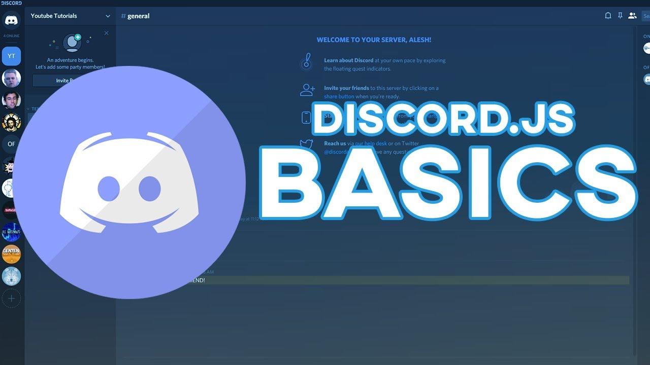 Make Your Own Discord Bot Basics 2019 Youtube
