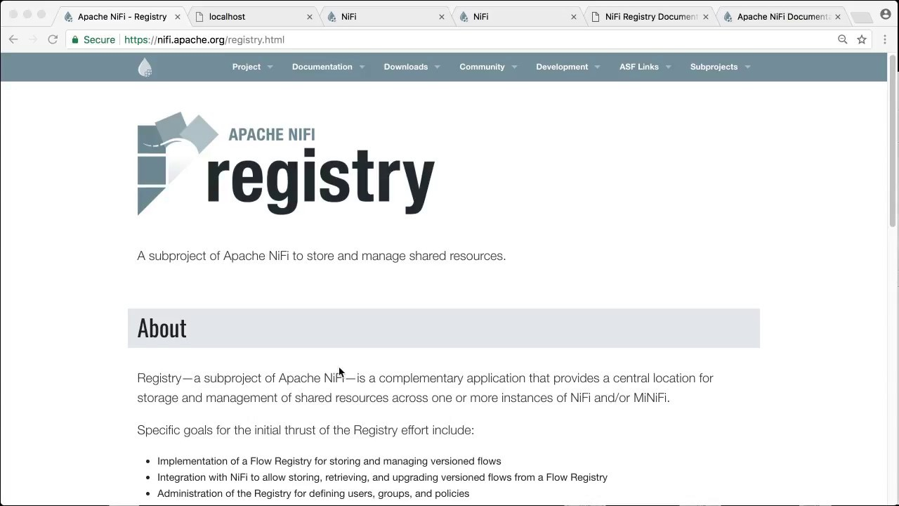 Getting Started with Apache NiFi Registry