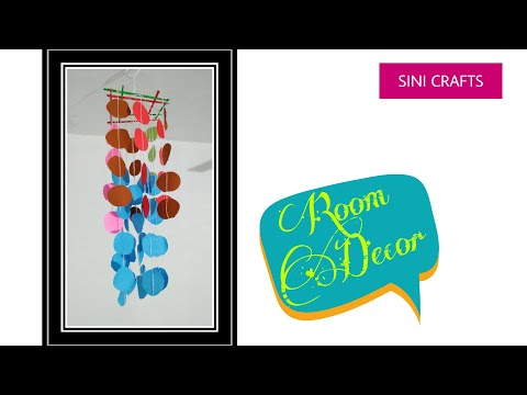 Easy and Simple Paper Jhumar | New Room Decor | how to make wall hanging | jhumar |SINI CRAFTS