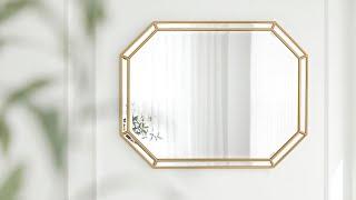 틸다 이중 8각 골드 우드 팔각 프레임 인테리어 벽거울…