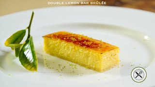 Double Lemon Bar Brûlée – Bruno Albouze – THE REAL DEAL