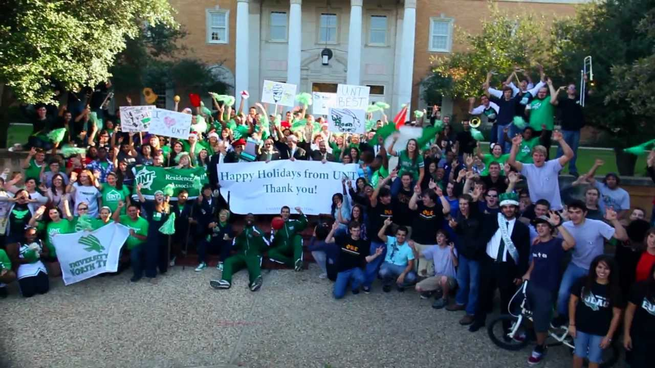 Unt Lip Dub Happy Holidays From Unt 2011 Youtube