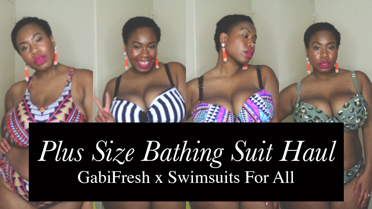 dbca08dbf4 Plus Size Bathing Suit Try-On Haul  GabiFresh x Swimsuits for All - YouTube