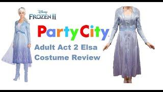 Elsa Frozen 2 Costume Review: Party City Adult Act II Elsa Dress