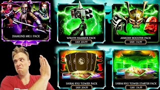 MK Mobile Update 2.7. Reviewing All New Packs. First Diamond MK11 Pack Opening!