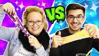 Glitzer SLIME Challenge | Glitzer Slime mit EVA & CLAUDIO | Wer macht den besten Mini Slime