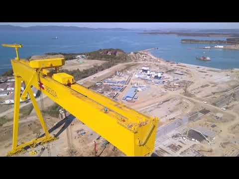 Очередное видео о строительстве сухого дока в г. Большой Камень.