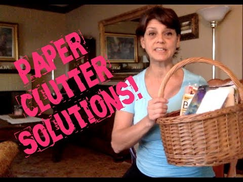 How to keep paper clutter under control