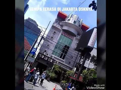 Video saat GEMPA di Jakarta 23 January 2018