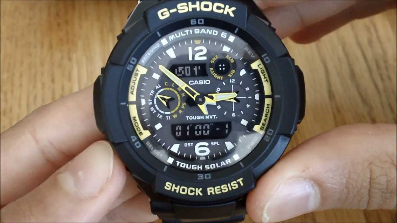 g shock gw3500b manual youtube rh youtube com casio g-shock analog-digital watch manual Casio Analog Divers Watch