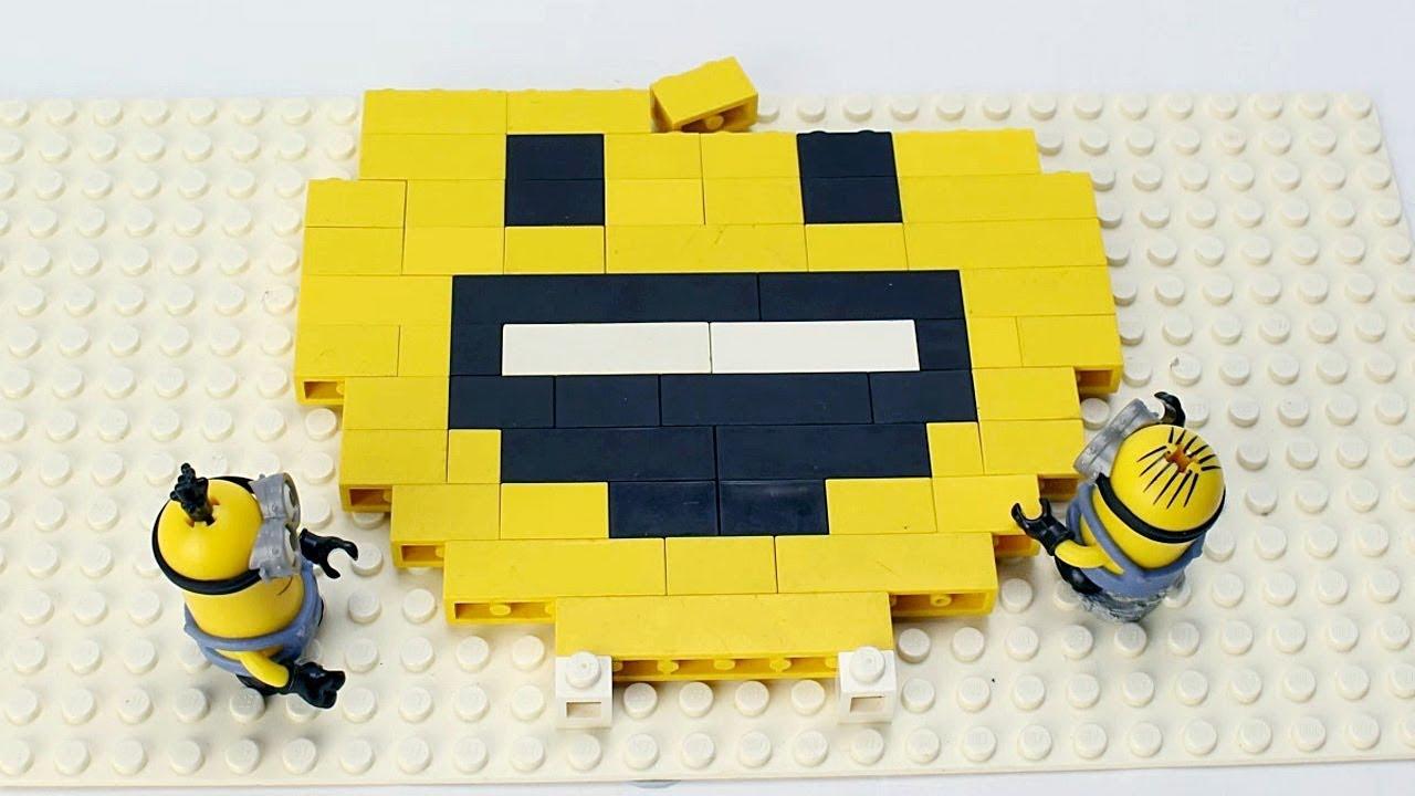 minions brick building emoji with lego animation youtube