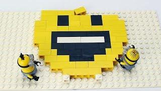 Minions Brick Building Emoji with Lego Animation