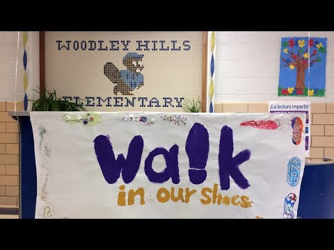 Walk in Our Shoes Week at Woodley Hills Elementary School