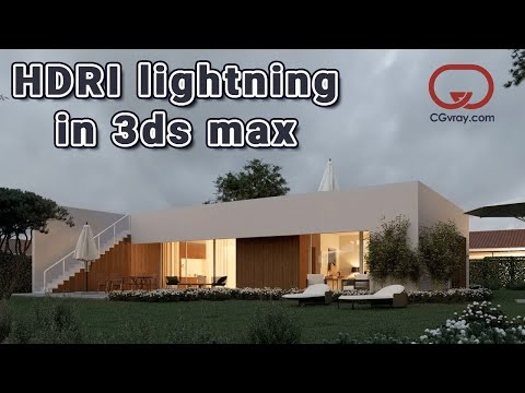 How to use HDRI maps to ILLUMINATE  an exterior   VRAY tutorial in 3ds Max