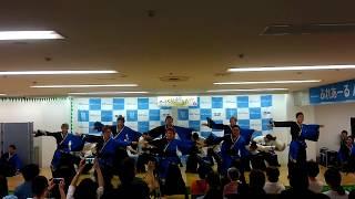 秋田市フォンテで行われた ヤートセ秋田祭直前PR での 【輝跡】の踊り納...