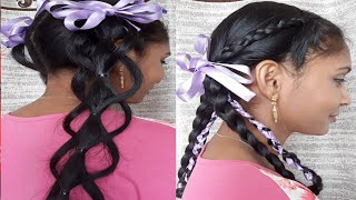 2#Braid Hairstyle For Indian School & College Girls | School Braid Hairstyle,easy and beautiful hair