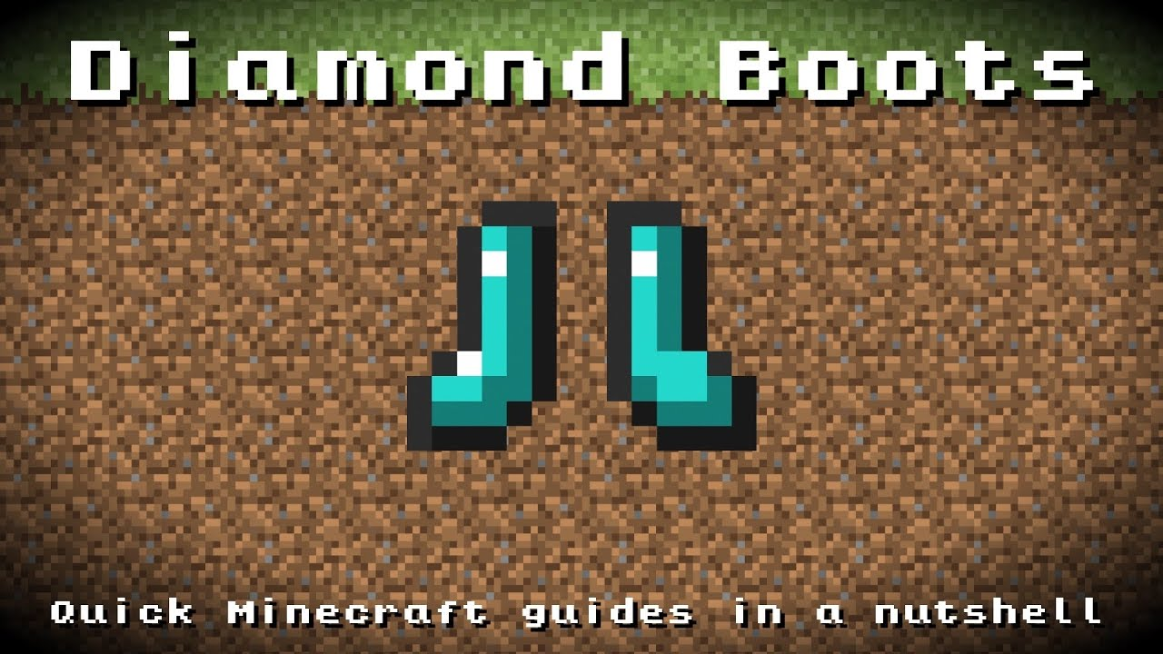 Minecraft - Diamond Boots! Recipe, Item ID, Information ...