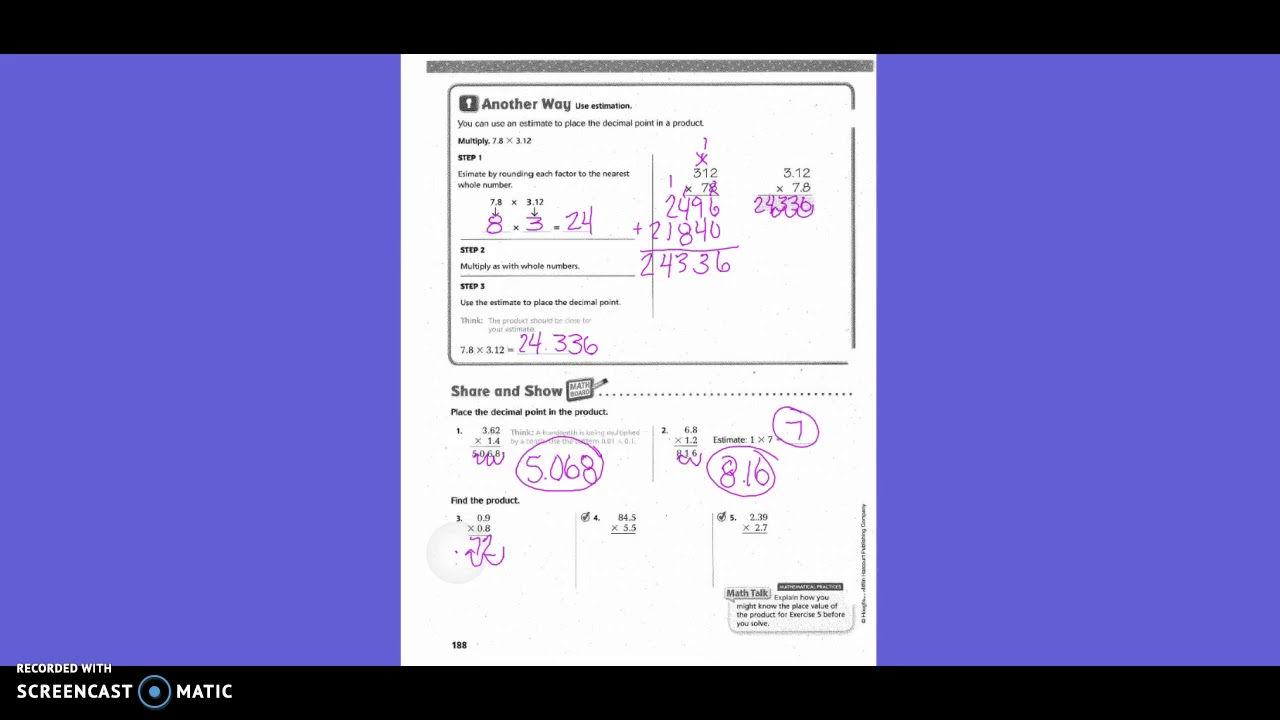 Go Math Grade 5 Lesson 4 7 Answer Key