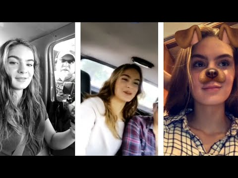 Brighton Sharbino during the new series recording  Snapchat