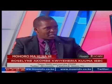 Inooro Rucini: Roselyn Akombe Kwiyeheria Kuuma IEBC