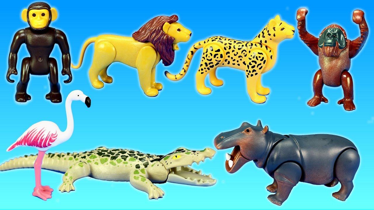 playmobil jungle zoo wild animals pond area building set. Black Bedroom Furniture Sets. Home Design Ideas