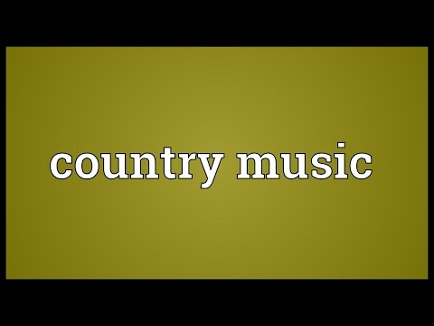 Country music Meaning