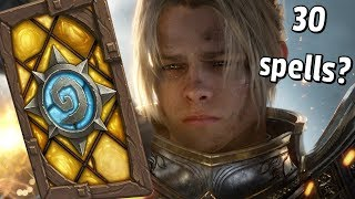 Hearthstone - The Impossible 30 Spell Deck Win