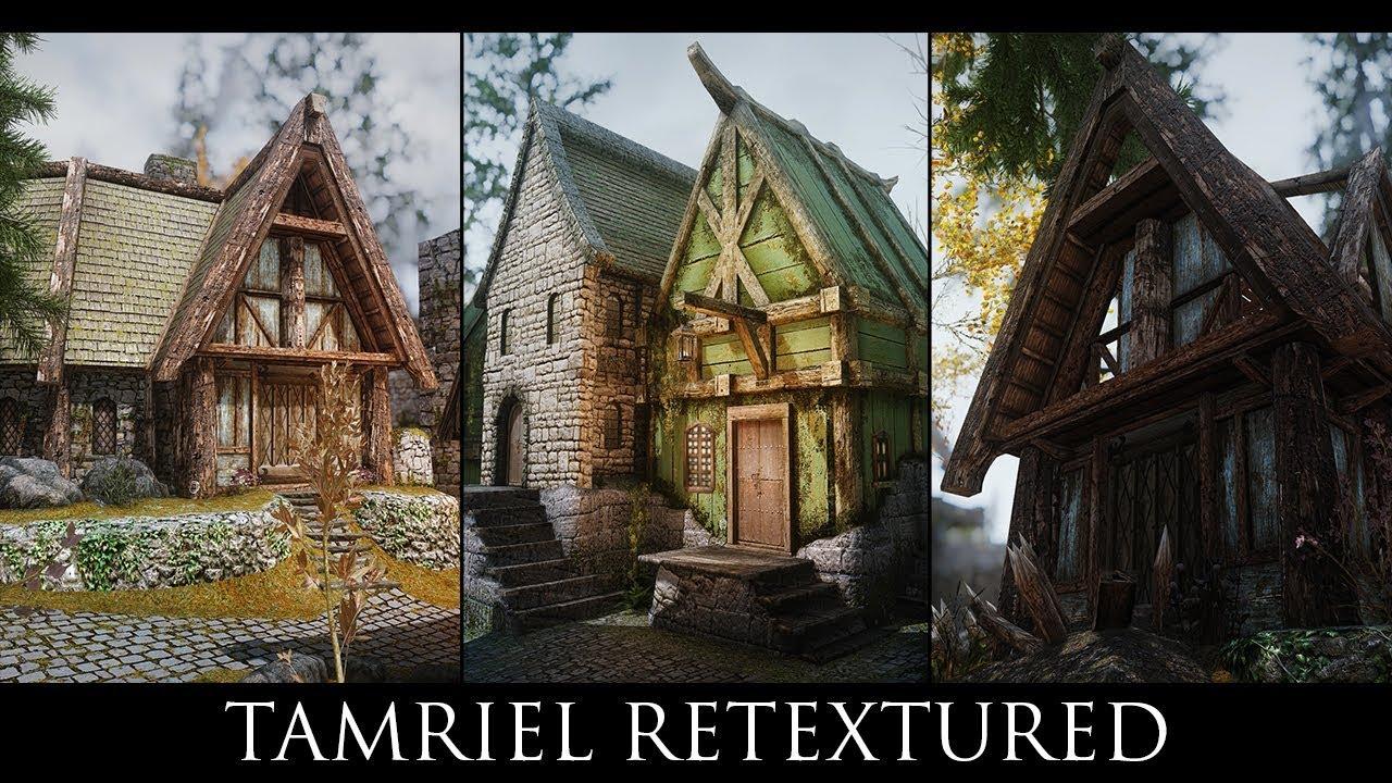 Skyrim SE Mods: Tamriel Retextured - HD Texture Pack