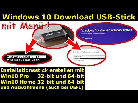 Windows 10 Download | 32-bit + 64-bit | Pro + Home | USB-Stick mit Auswahlmenü erstellen | ei.cfg