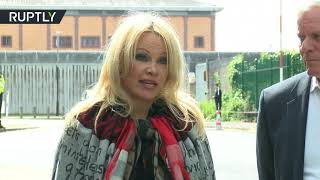 'He is a good man, I love him' - Pamela Anderson visits Assange at London prison