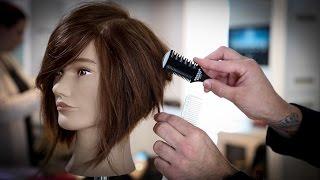 How To Cut A Stacked Bob Haircut Tutorial   Stacked Bob With A Razor   MATT BECK VLOG 74